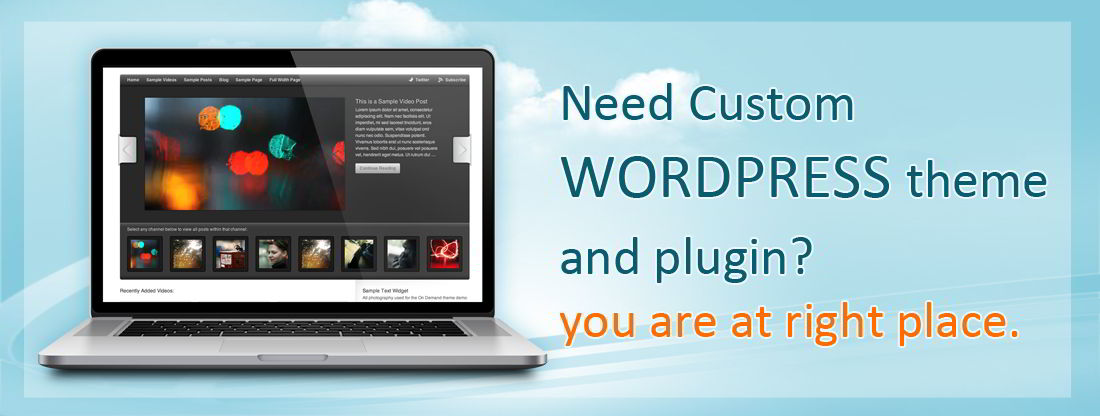 Need custom wordpress theme? you are at right place!! Custom wordpress theme by www.webstuffs.co.in
